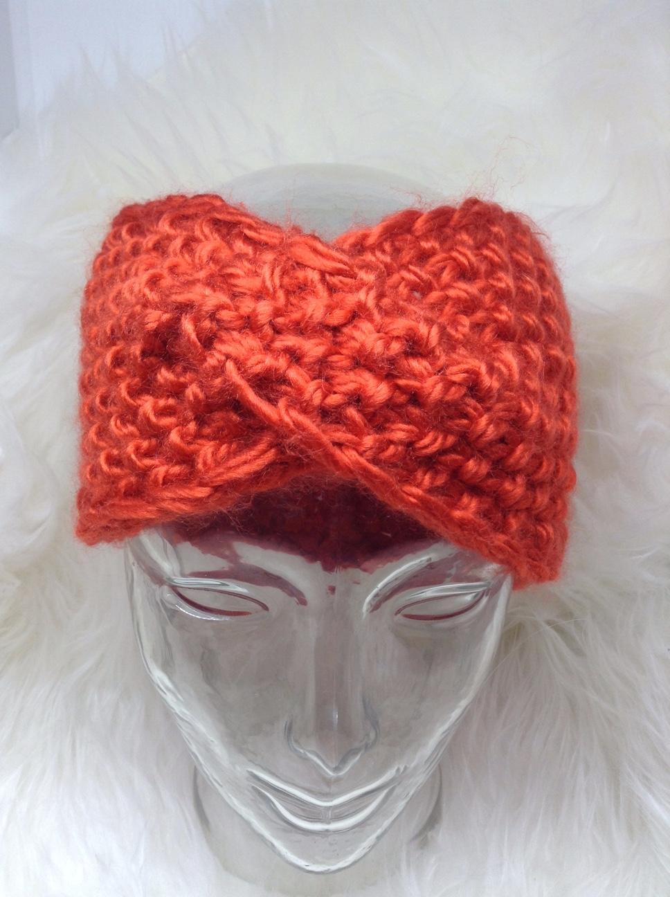 Chunky Twist Headband-Tangerine