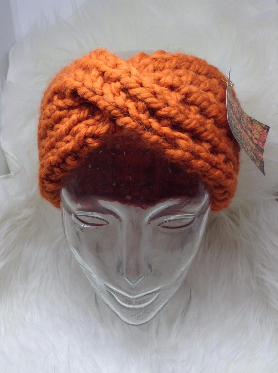 Chunky Twist Headband in Pumpkin