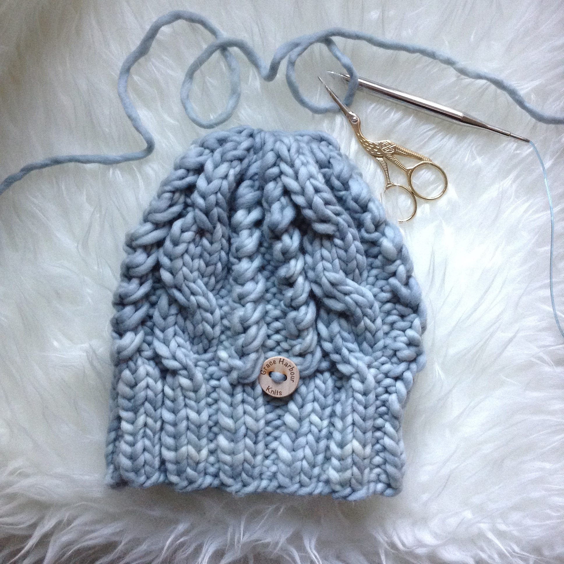 White Hills Beanie and Pattern