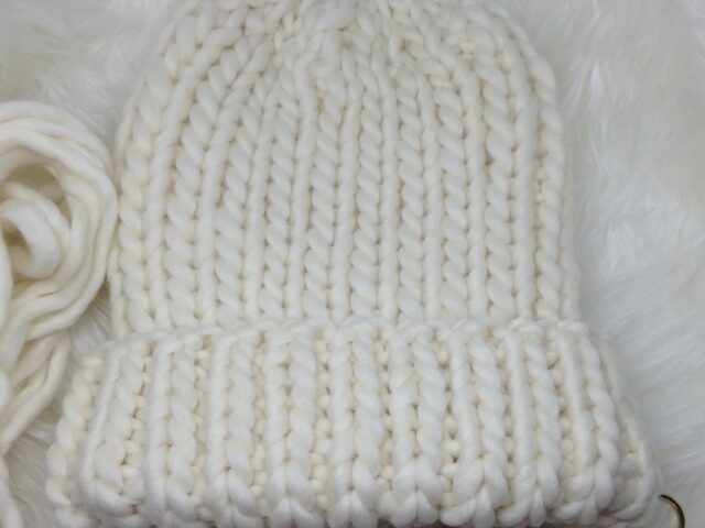 Heart's Content Beanie in  Snow White