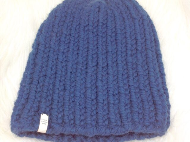 Rib-Watchman Cap Style Hat in Blueberry