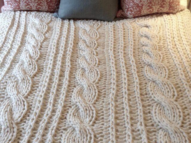 Grace Harbour Cable Knit Blanket