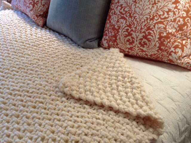 Middle Cove Blanket Throw in Aran