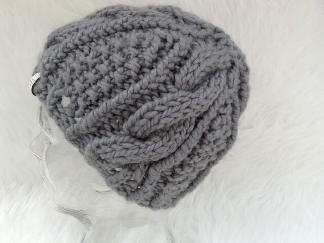 Cable twist hat -Lisa Carnahan design