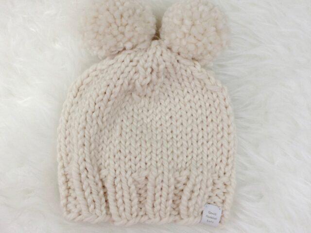 Double Pom Baby Hat