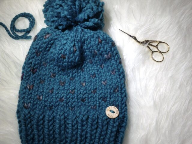 Heart's Delight Beanie Peacock with Grey
