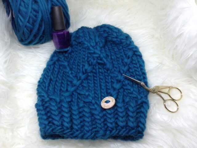 Honeysuckle Beanie in Como Blue