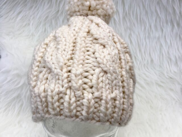 Grace Harbour Cable Hat in Aran with pattern